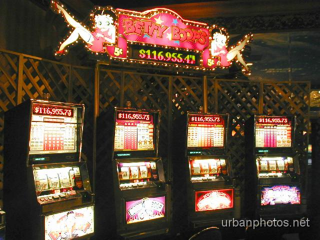 will stuff money into anything in Las Vegas. Here are slot machines