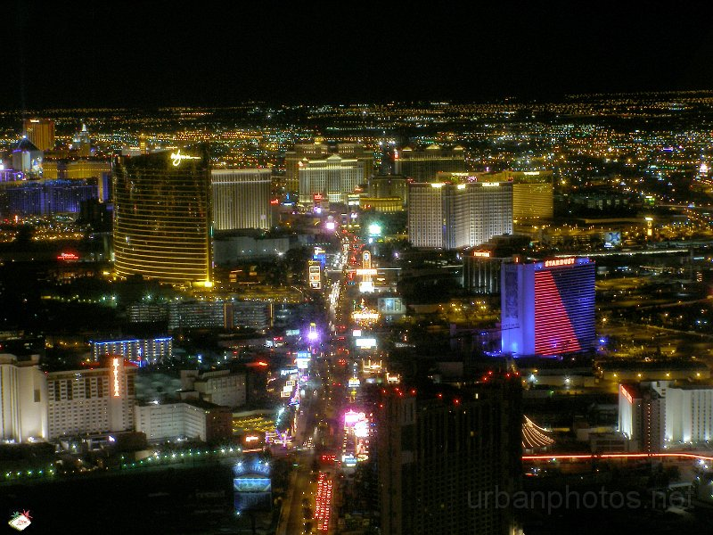 View of the Las Vegas Strip from the Stratosphere, March 2006