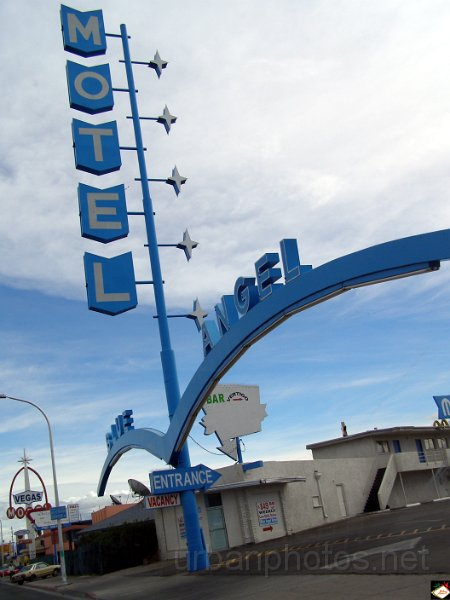 Blue Angel Motel on Fremont Street, Las Vegas>  <BR><BR><A HREF=