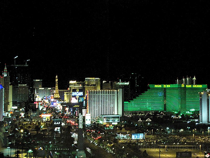 The Las Vegas Strip from high altitude