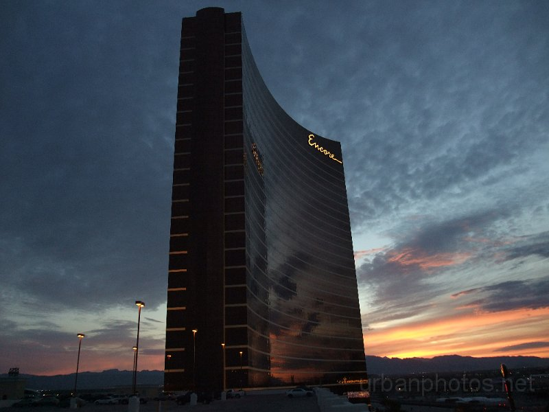 Encore Las Vegas at sunset